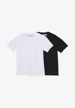 ALANIS 2 PACK - Basic T-shirt - black/white