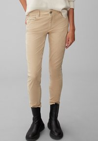 Marc O'Polo - ALBY SLIM - Trousers - vintage stone - 0