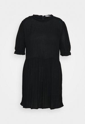 FRILL NECK SMOCK DRESS - Day dress - black