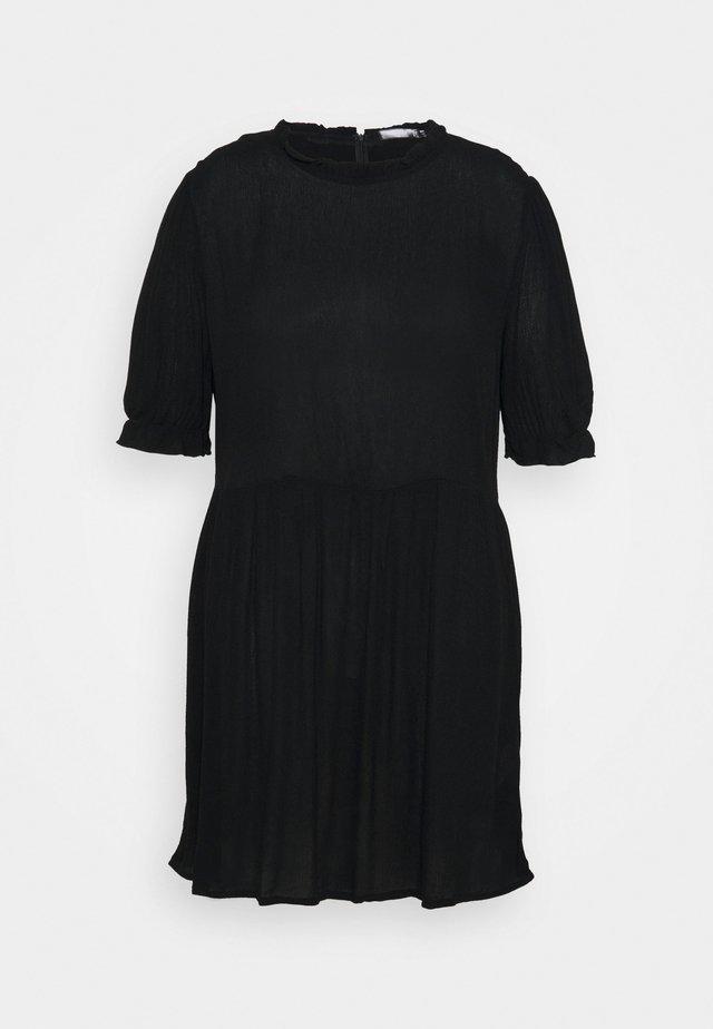 FRILL NECK SMOCK DRESS - Sukienka letnia - black