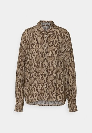 CLOELIA - Button-down blouse - braun