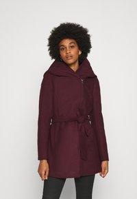 ONLY - ONLCANE COAT - Krátký kabát - bordeaux - 0
