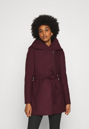 ONLCANE COAT - Short coat - bordeaux