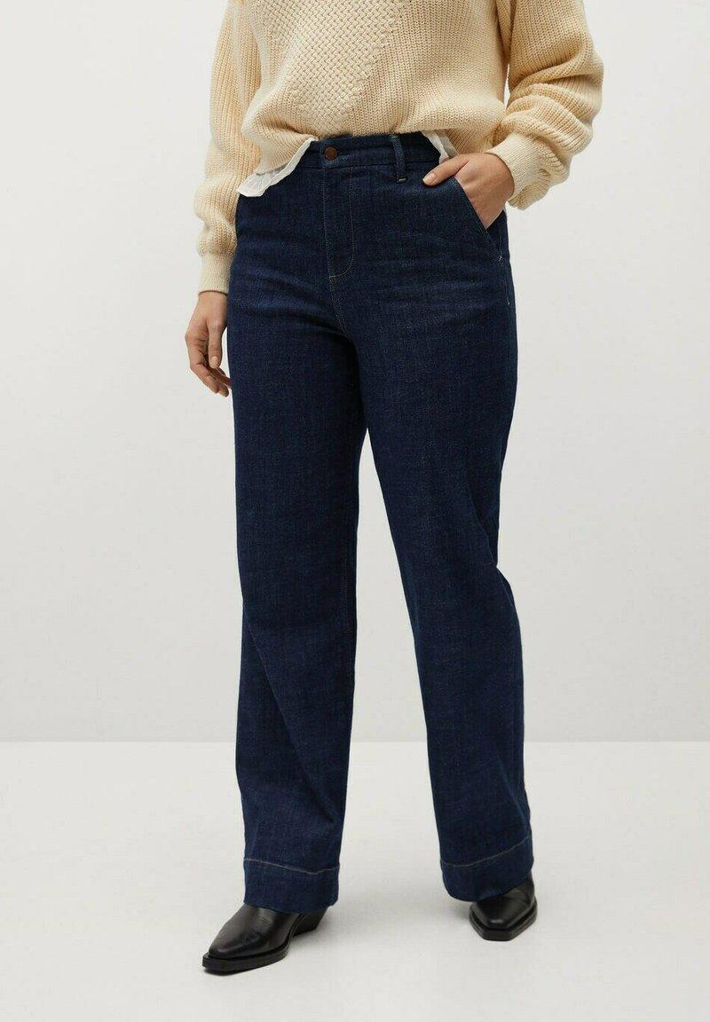 Violeta by Mango - LILA - Bootcut jeans - blue
