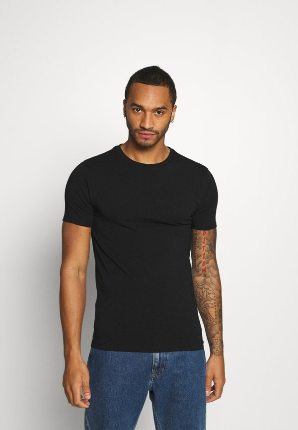River Island 5 PACK - T-shirt basic - black/czarny Odzież Męska DBFQ