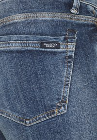 Marc O'Polo DENIM - SIV CROPPED - Skinny džíny - multi/dark blue crosshatch - 2