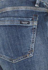 Marc O'Polo DENIM - SIV CROPPED - Jeans Skinny Fit - multi/dark blue crosshatch - 2