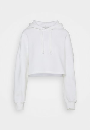 BASIC CROPPED HOOD - Mikina s kapucí - offwhite
