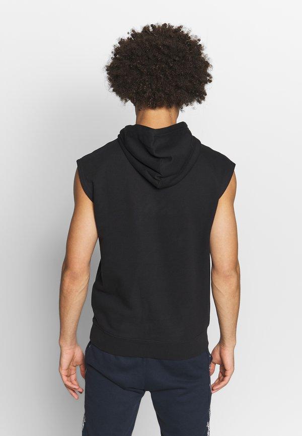 Champion HOODED SHORT SLEEVES - Bluza z kapturem - black/czarny Odzież Męska SWBP
