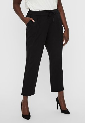 HOSE NORMAL WAIST - Trousers - black