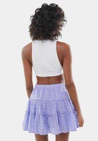 Bershka - SWISS - A-line skirt - mauve - 2