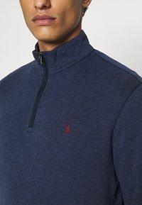 Polo Ralph Lauren - JERSEY QUARTER-ZIP PULLOVER - Sweatshirt - spring navy heather - 6