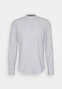 STRIPED STAND UP COLLAR - Košile - white/navy