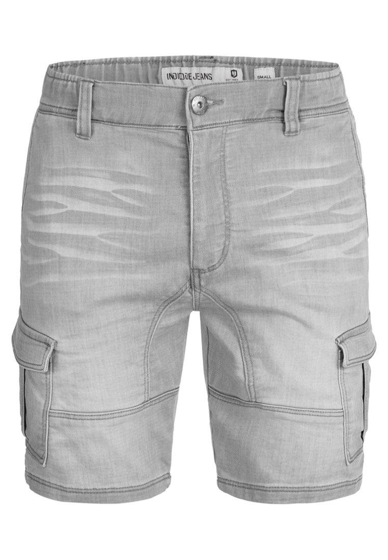 Indicode Jeans Szorty Jeansowe - Light Grey