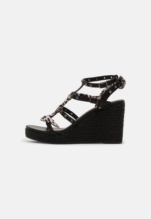 Platform sandals - soft nero