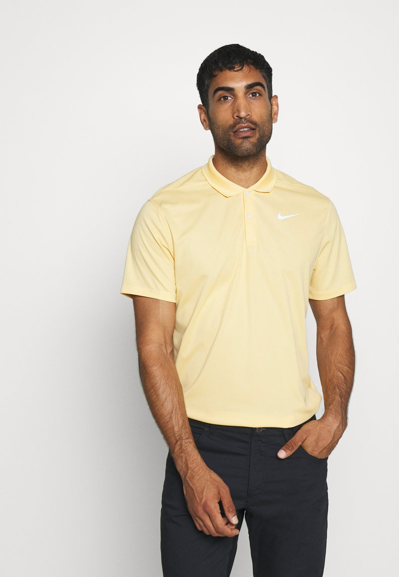 Nike Golf - DRY VICTORY SOLID - Funkční triko - celestial gold/white