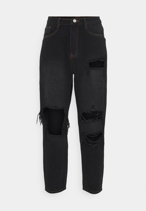 PETITE RIOT WASH BUSTED MOM  - Jean boyfriend - black
