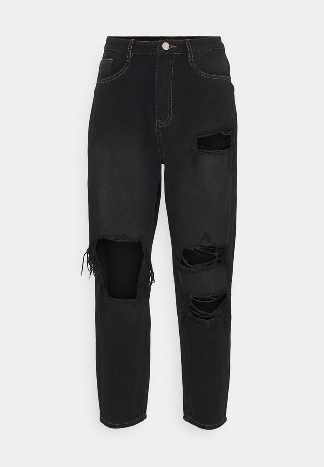 PETITE RIOT WASH BUSTED MOM  - Jeans baggy - black