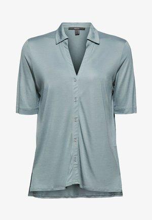 Button-down blouse - grey blue