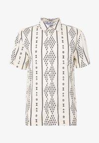 BUTTON UP SHORT SLEEVE FOLK PRINT - Camisa - ivory