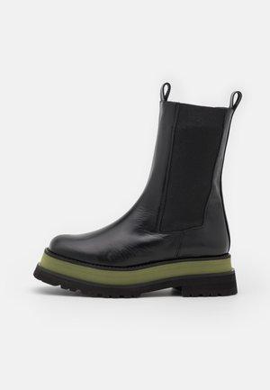 Platåstøvler - green/black