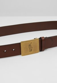 Polo Ralph Lauren - PLAQUE BELT - Pásek - brown - 4