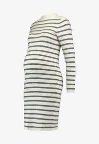 Ripe - GRID DRESS - Fodralklänning - white/black - 4