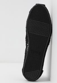TOMS - ALPARGATA - Scarpe senza lacci - black - 6
