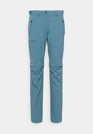 WOMENS FARLEY STRETCH ZIP PANTS - Trousers - blue gray