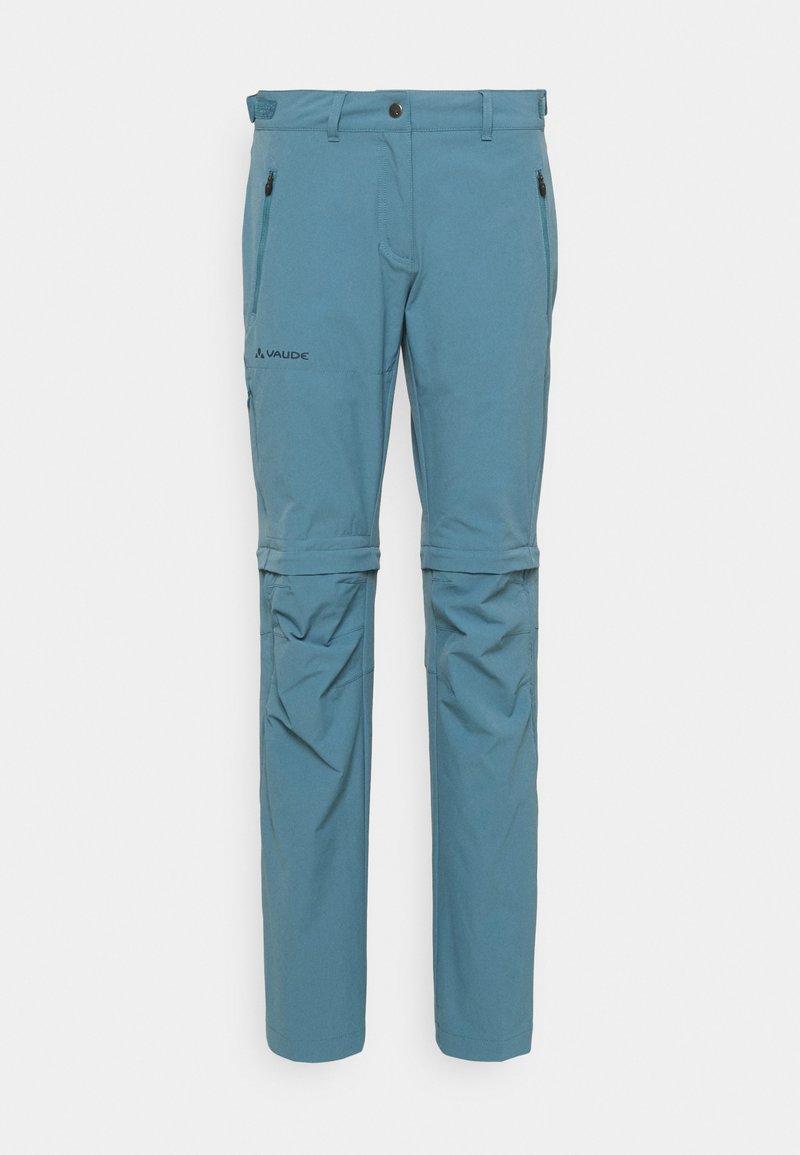 Vaude - WOMENS FARLEY STRETCH ZIP PANTS - Pantaloni - blue gray