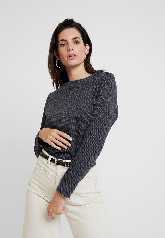 Langærmede T-shirts - grey/blue