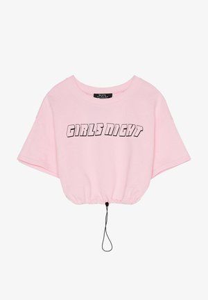 BEDRUCKTES SAMT-SHIRT - Triko spotiskem - pink