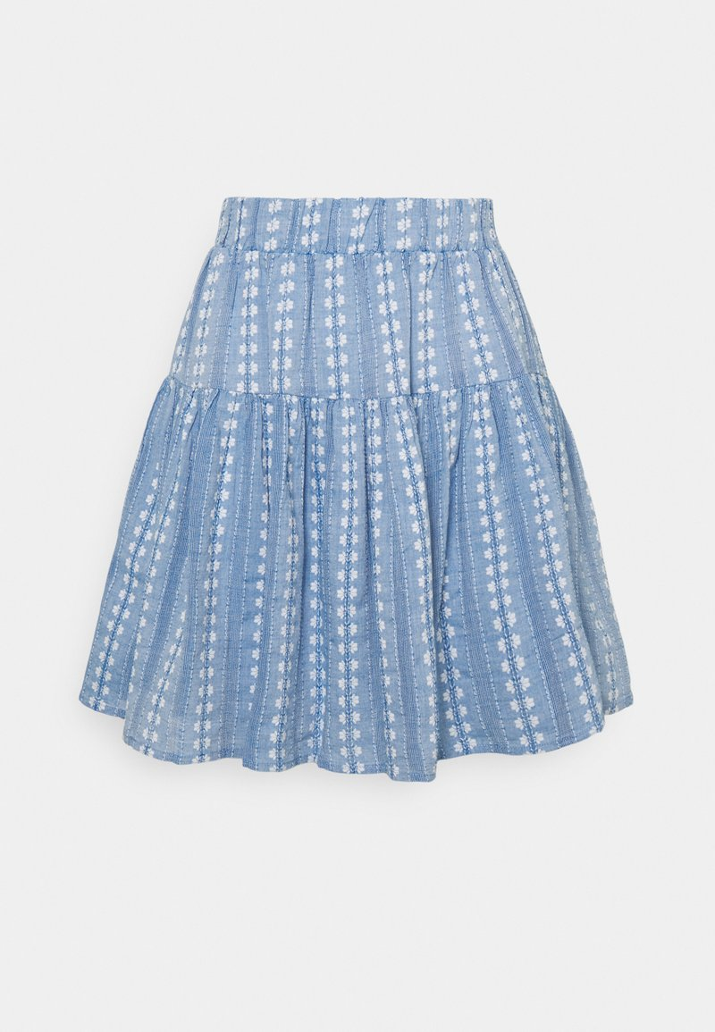 YAS - YASPACCA SKIRT - Mini skirt - cashmere blue