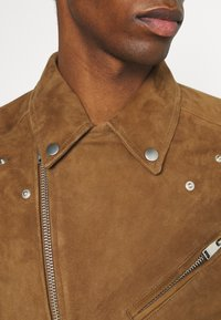 Selected Homme - Giacca di pelle - rubber - 4