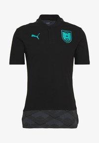 Puma - ÖSTERREICH ÖFB CASUAL - Polo shirt - black/blue turquoise - 3