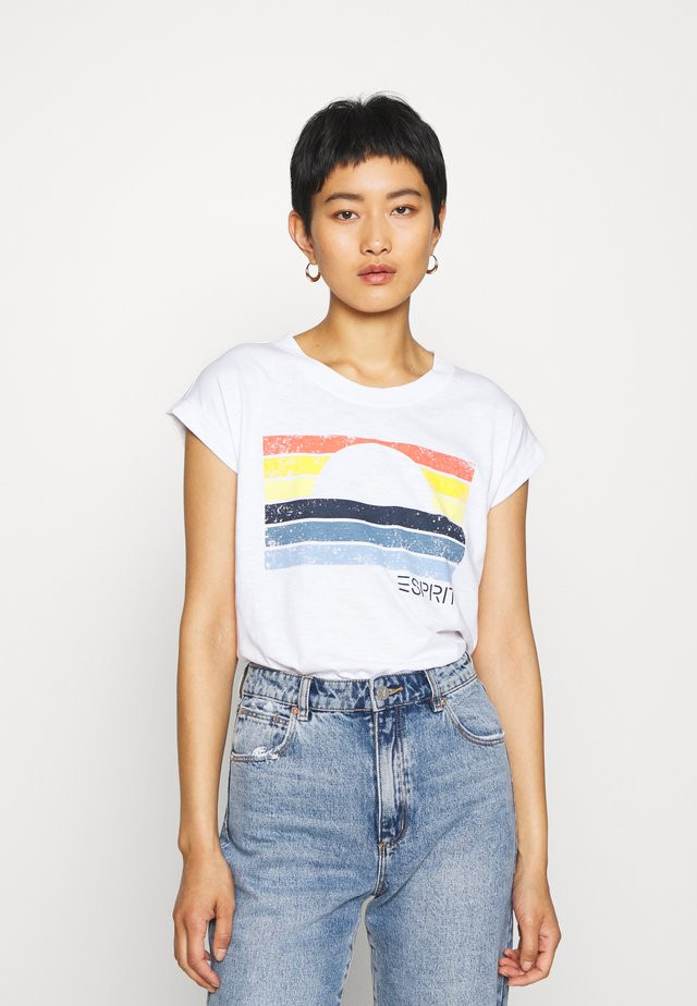 CORE SUN - Print T-shirt - white