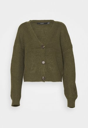 VMLEA V NECK - Cardigan - ivy green