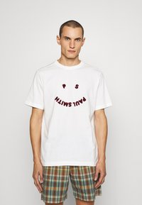 PS Paul Smith - HAPPY - Print T-shirt - off white - 0