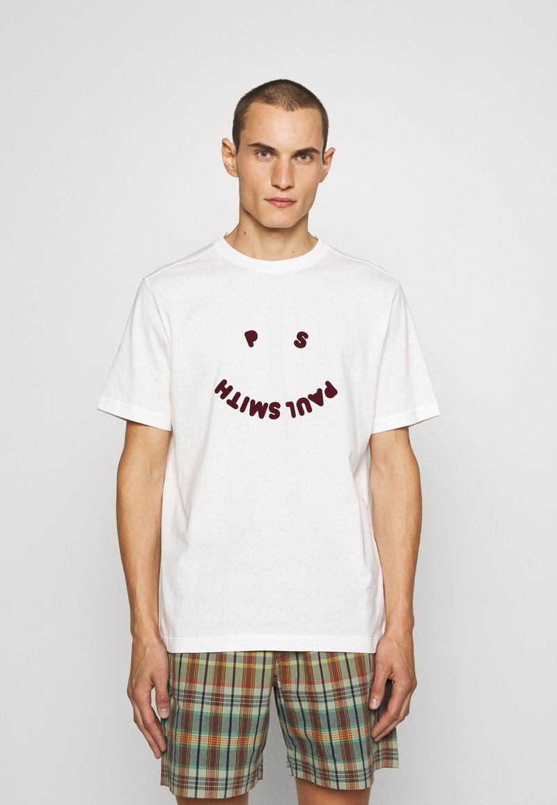 PS Paul Smith - HAPPY - Print T-shirt - off white