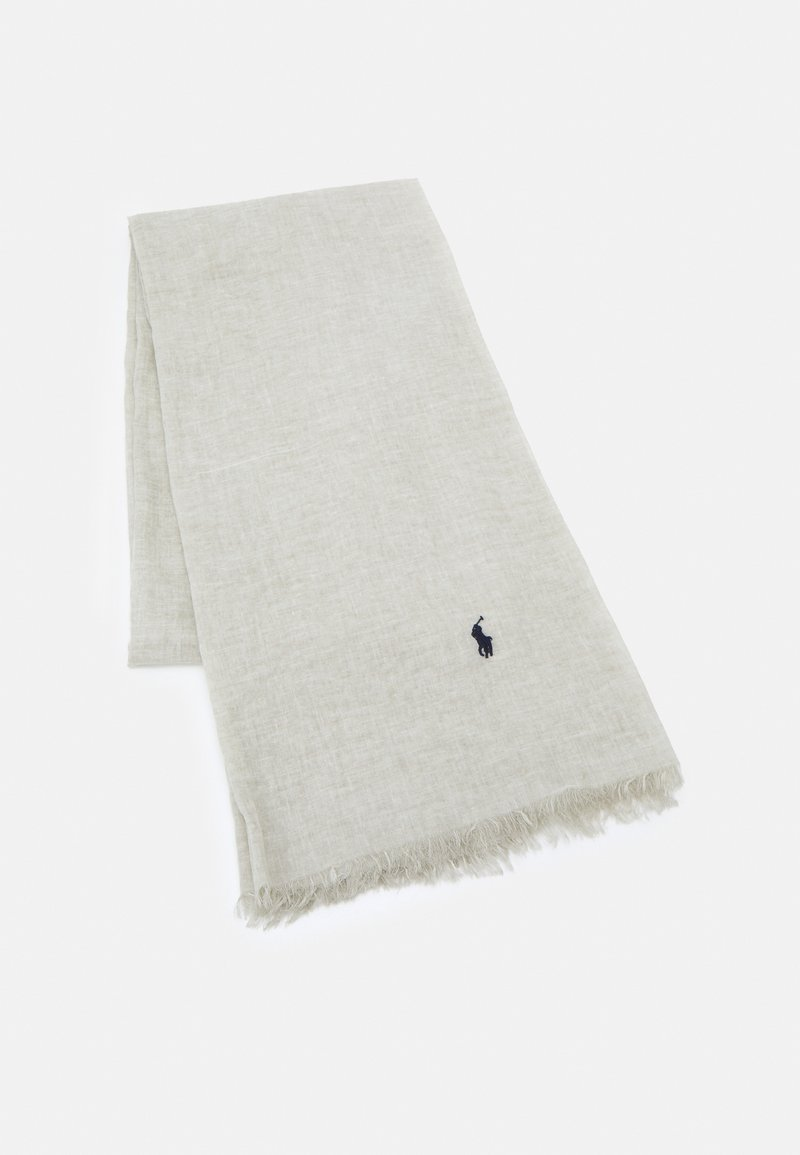 Polo Ralph Lauren - CRINKLED OBLONG - Scarf - college grey