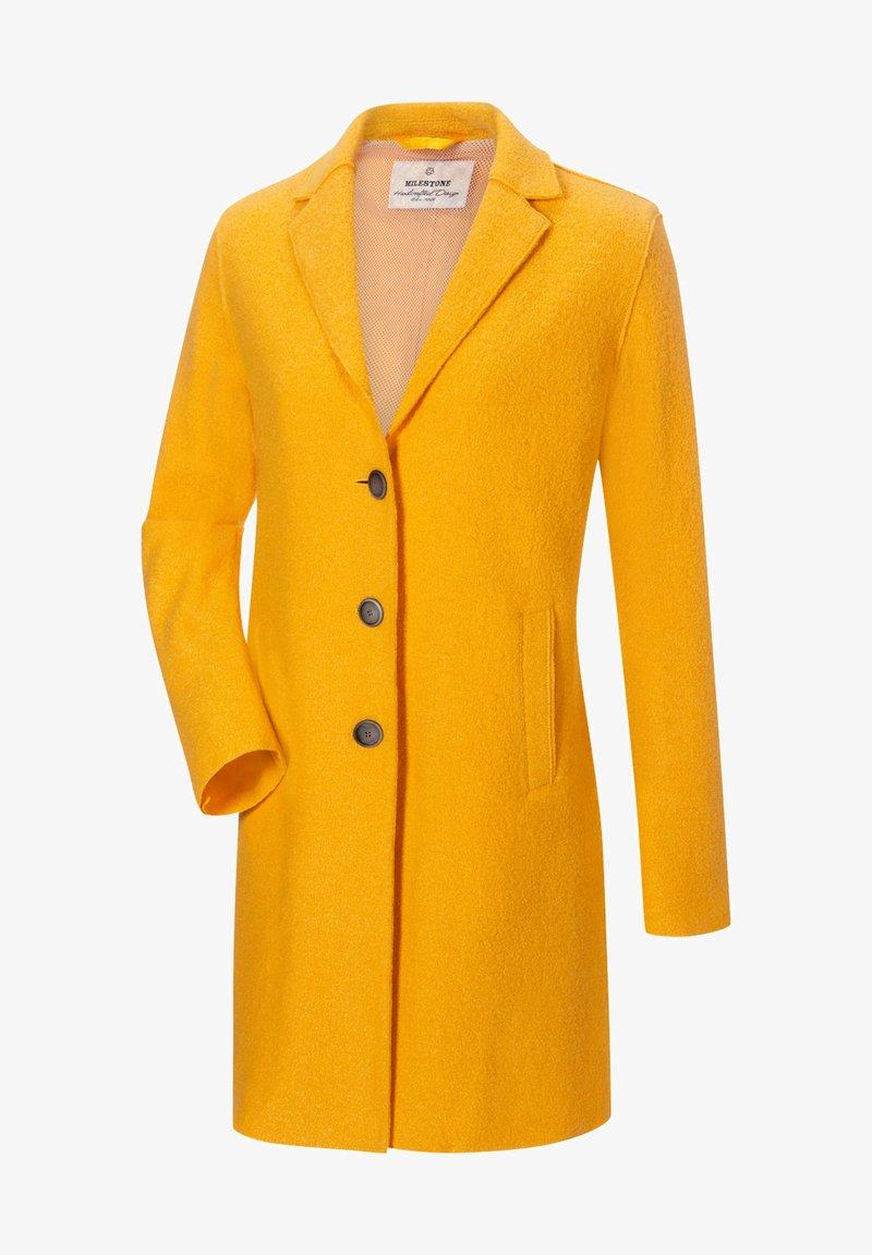 Milestone - ABRA - Classic coat - sonnengelb