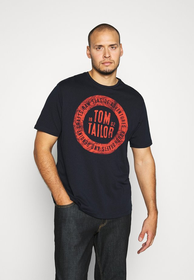 BASIC WITH PRINT - T-shirts med print - dark blue