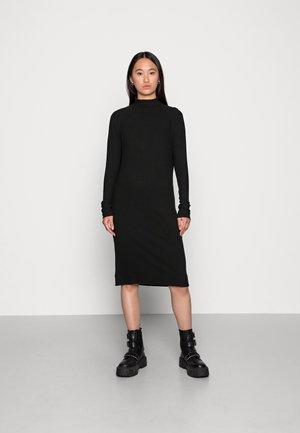 MOCK SLIM DRESS - Jumper dress - black
