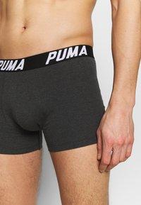 Puma - SPACEDYE STRIPE BOXER 2 PACK - Panties - black - 5