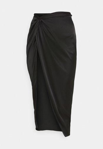 FRONT SPLIT MIDAXI SKIRT - Pencil skirt - black