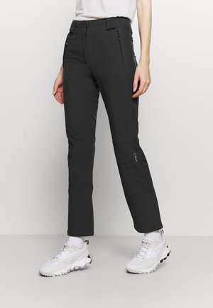 WOMAN LONG PANT - Stoffhose - antracite