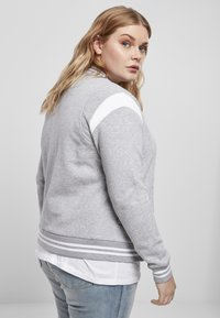 Urban Classics - Zip-up hoodie - grey white - 5