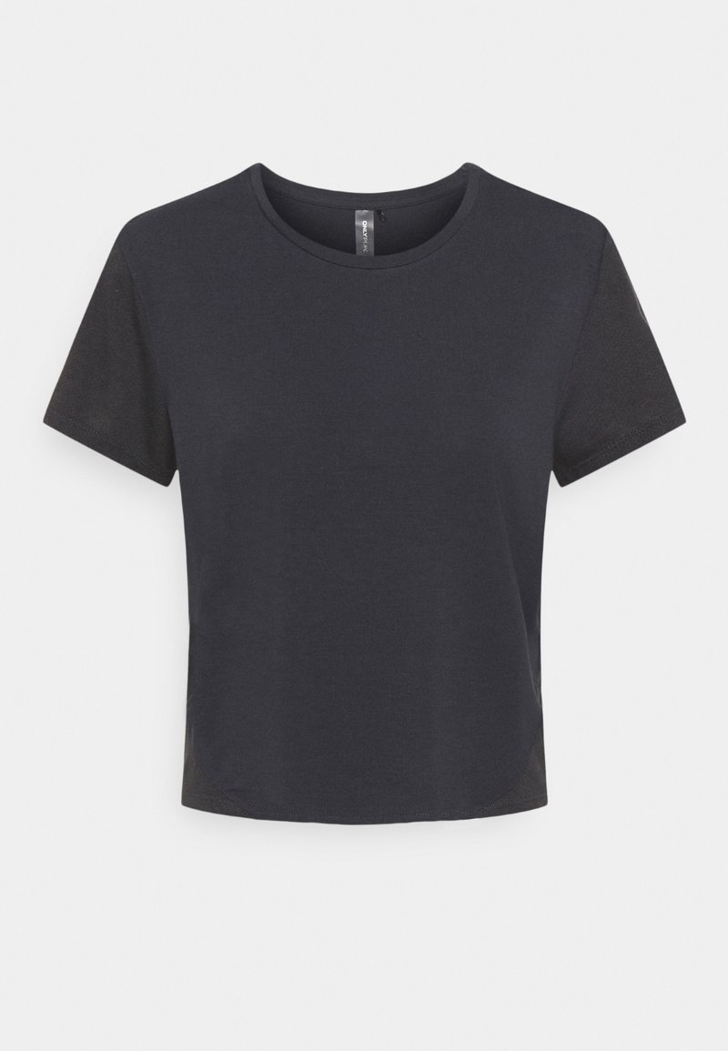 ONLY Play - ONPMAIDA CROPPED TOP - T-shirt basic - blue graphite