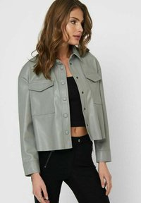 ONLY - Faux leather jacket - shadow - 3