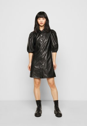 ONLRILLA PUFF DRESS - Shirt dress - black